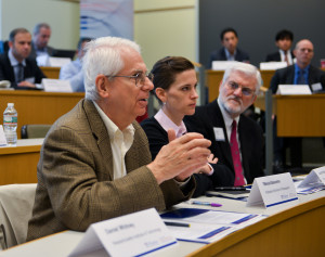 Dan Whitney participates in discussion at the 2013 Mack Institute Fall Conference..