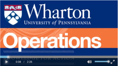 Christian Terwiesch's Intro to Operations Management is one of several Wharton MOOCs reaching thousands of students at a time.