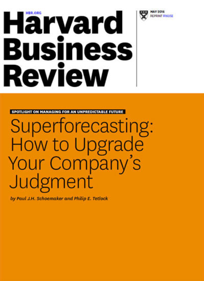 Superforecasting HBR Article