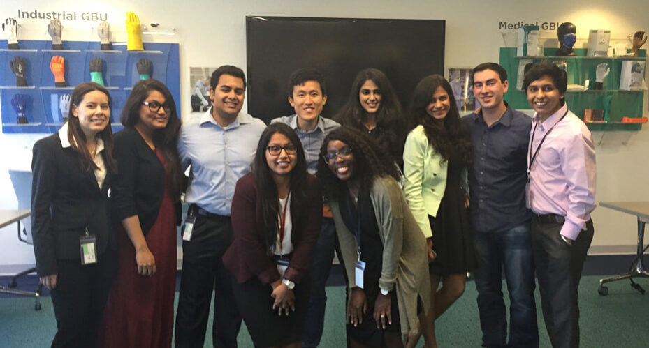 Emily Pell with Ansell Interns