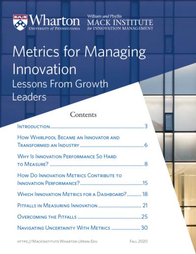 Metrics for Managing Innovation White Paper Cover